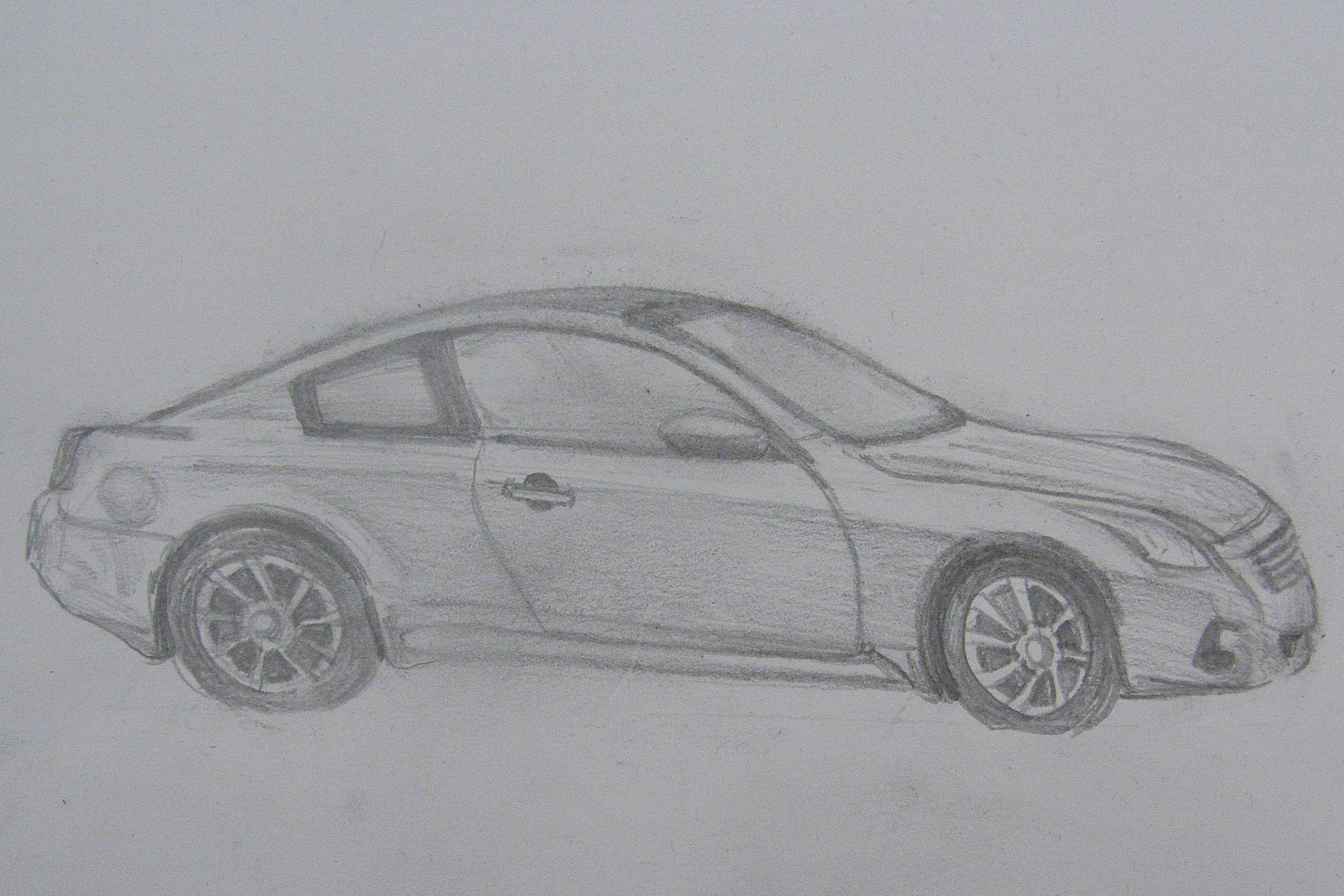 Drawing of a parked car - Richard North