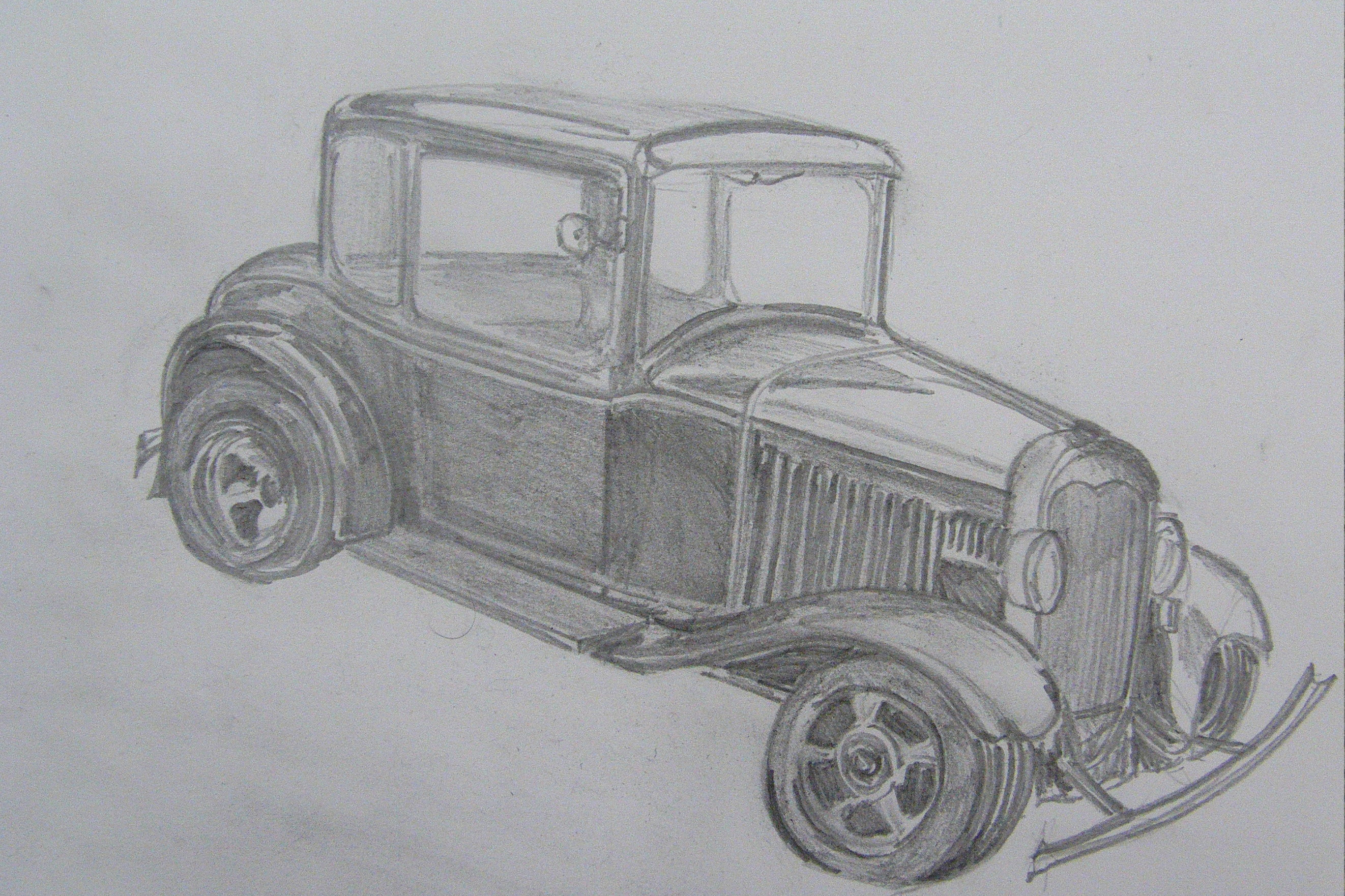 Drawings of cars - Richard North