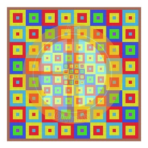 Divine mosaic piece 10 - Nation of squares